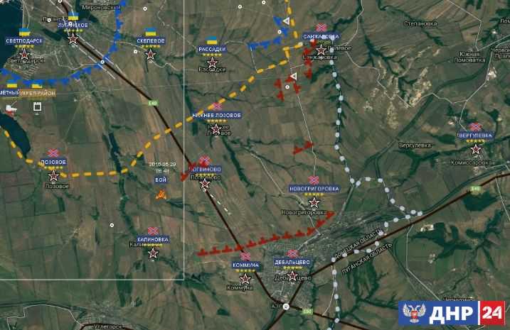 Опять Светлодар. Ползучее наступление украинского войска