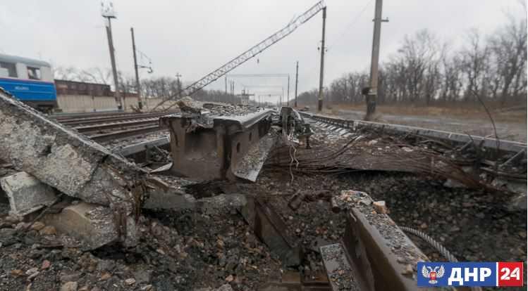 Ветераны «АТО» подорвали железнодорожное полотно в ЛНР