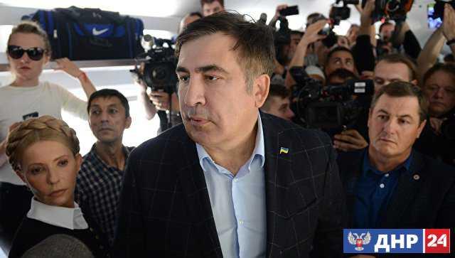 """На Украине завели уголовное дело после """"прорыва"""" Саакашвили через границу"""