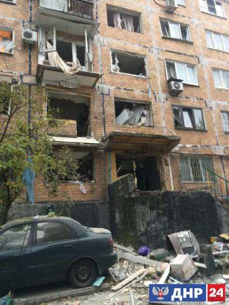 В центре Донецка произошел взрыв, проводится спасательная операция
