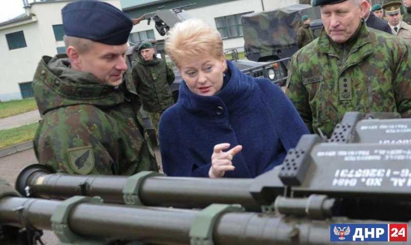 Как Грибаускайте воюет на Украине